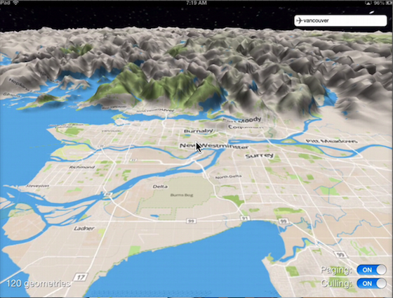 Shot Of Vancouver Using Earth View Library On iPad