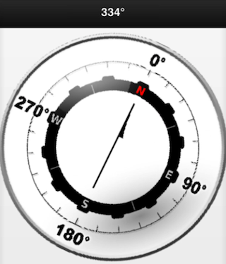 iOS Phonegap (Cordova) Jquery Mobile Compass Demo