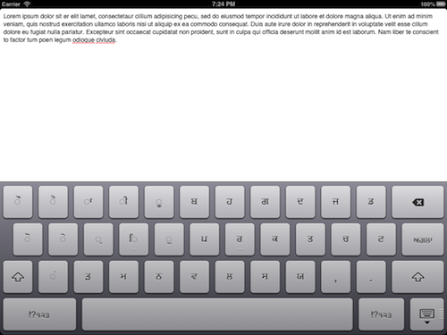 Custom iPad Keyboard