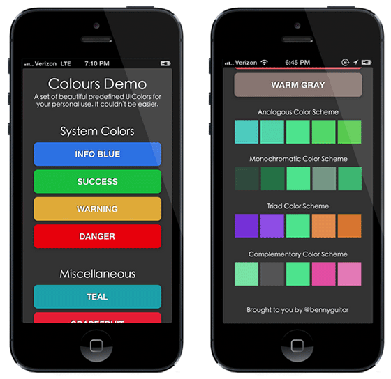 Colours For iOS