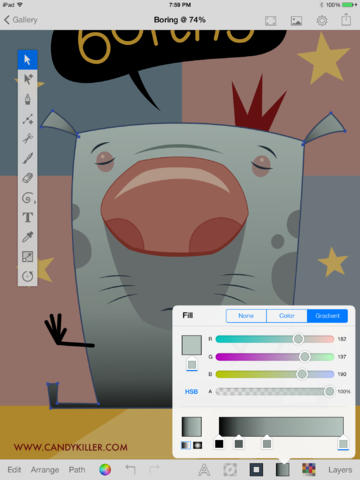 Example An Open Source Full Featured Vector Based Drawing App