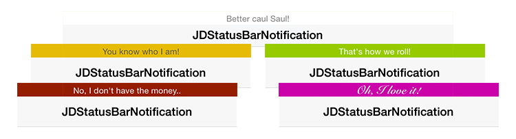 JDStatusBarNotification