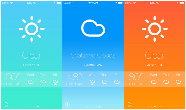 Example: A Beautiful Open Source iOS Weather App