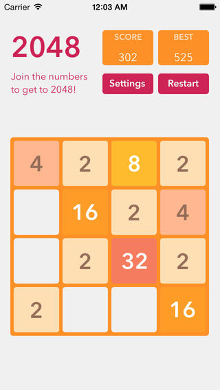 You can find the SpriteKit based source code of 2048 on Github here ...